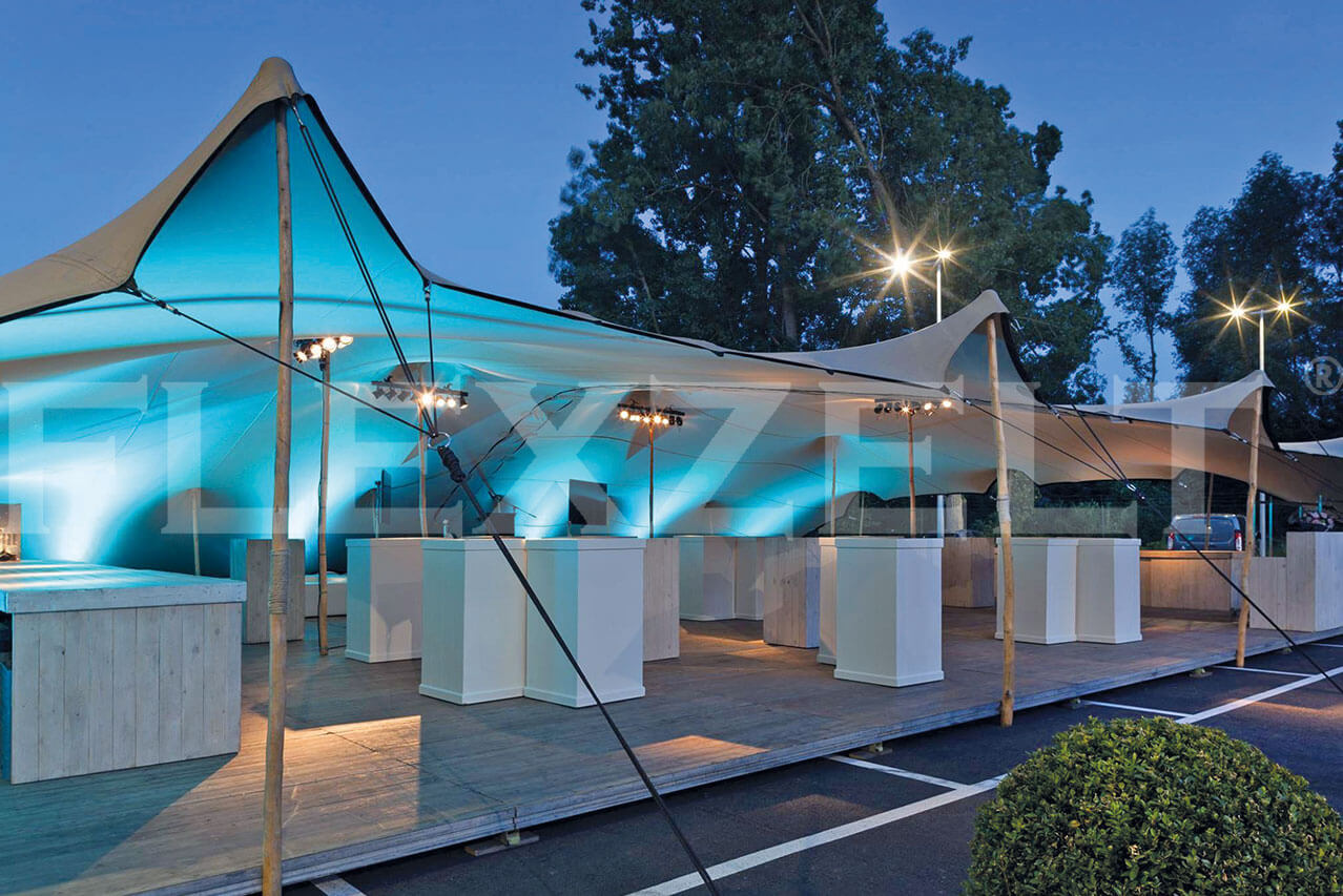 Flexzelt® - Neon Licht - Flextent® - VIP Lounge