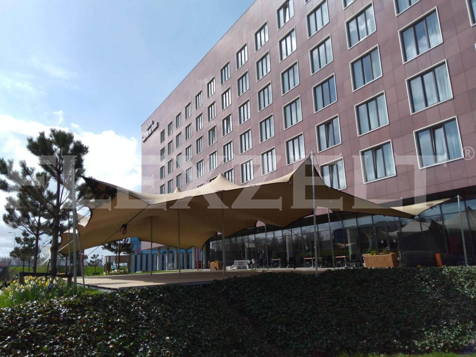 Flexzelft - Flextent - Hotel Hilton - Voorbeeld